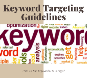 Keyword Targeting Guidelines