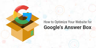 Google Answer Box Optimization Steps